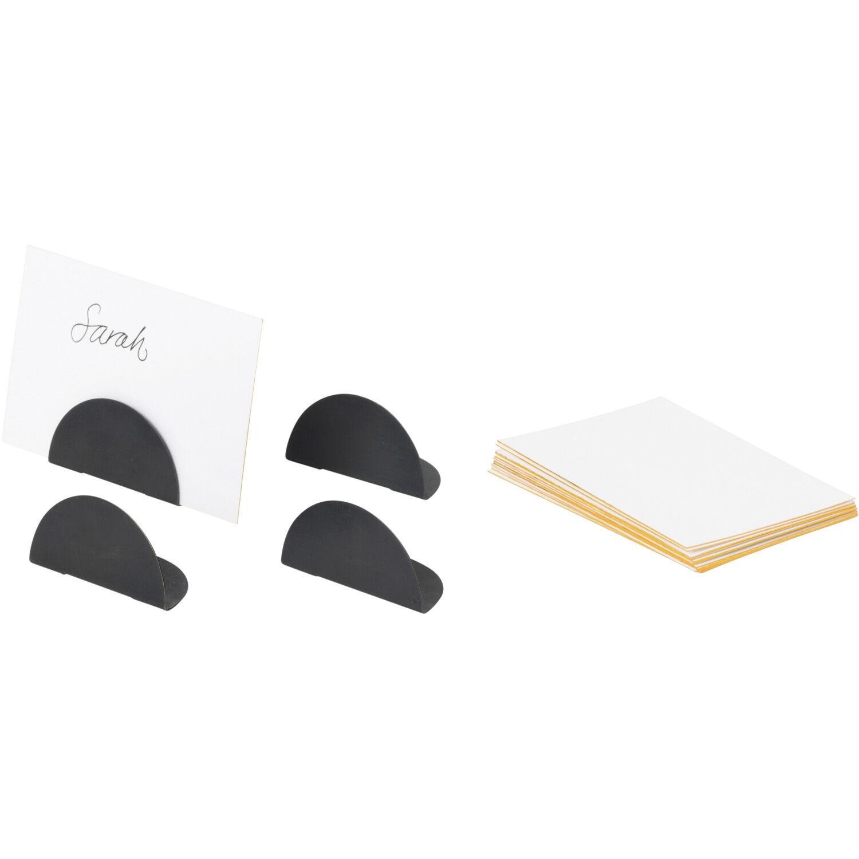 Ferm Living Card Holder 4-Pack, Black Brass