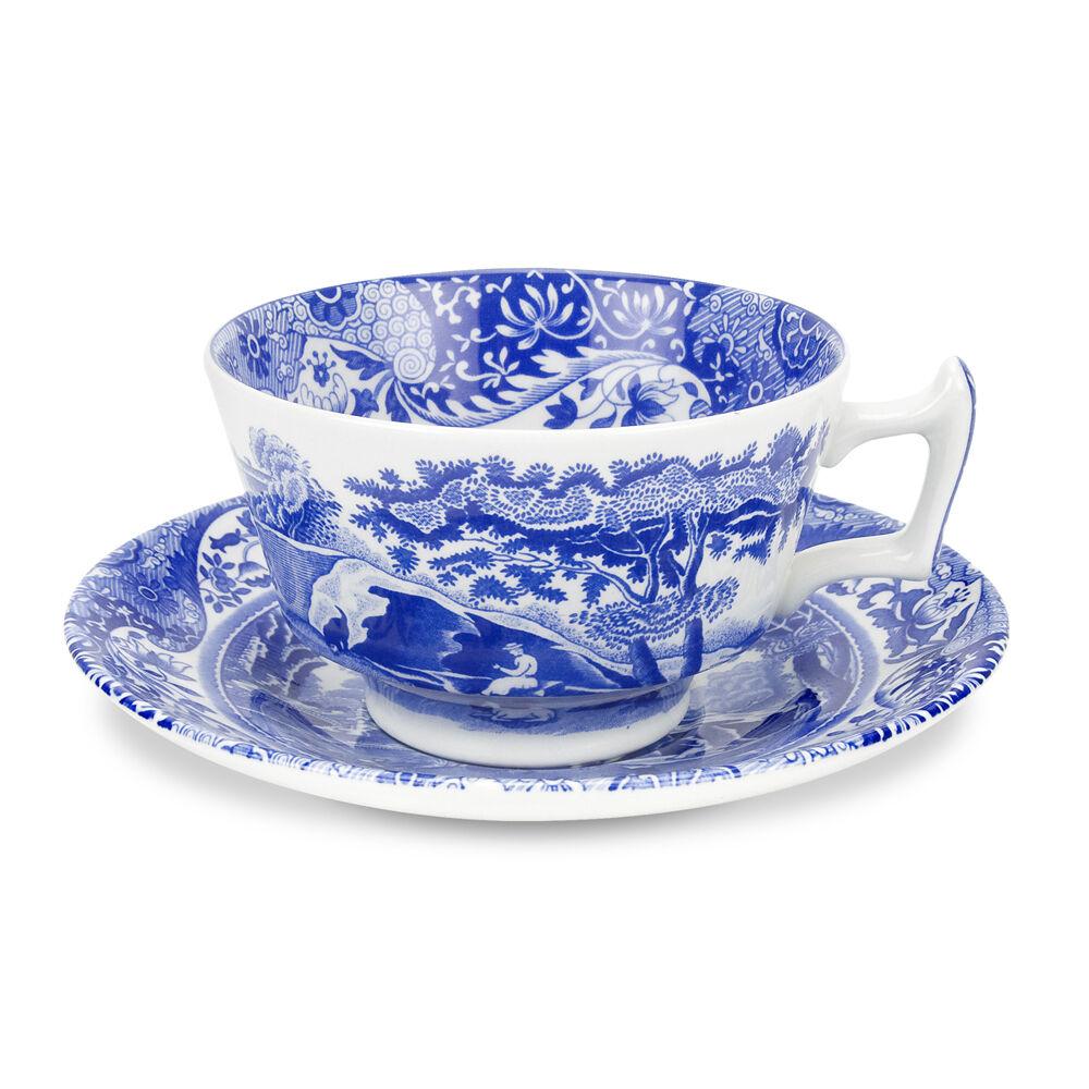 Spode Blue Italian Teekuppi ja aluslautanen 200 ml