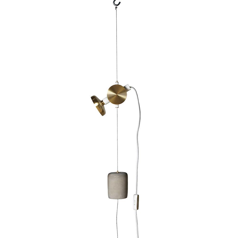 Pholc Blend Wire -valaisin, Valkoinen/Messinki