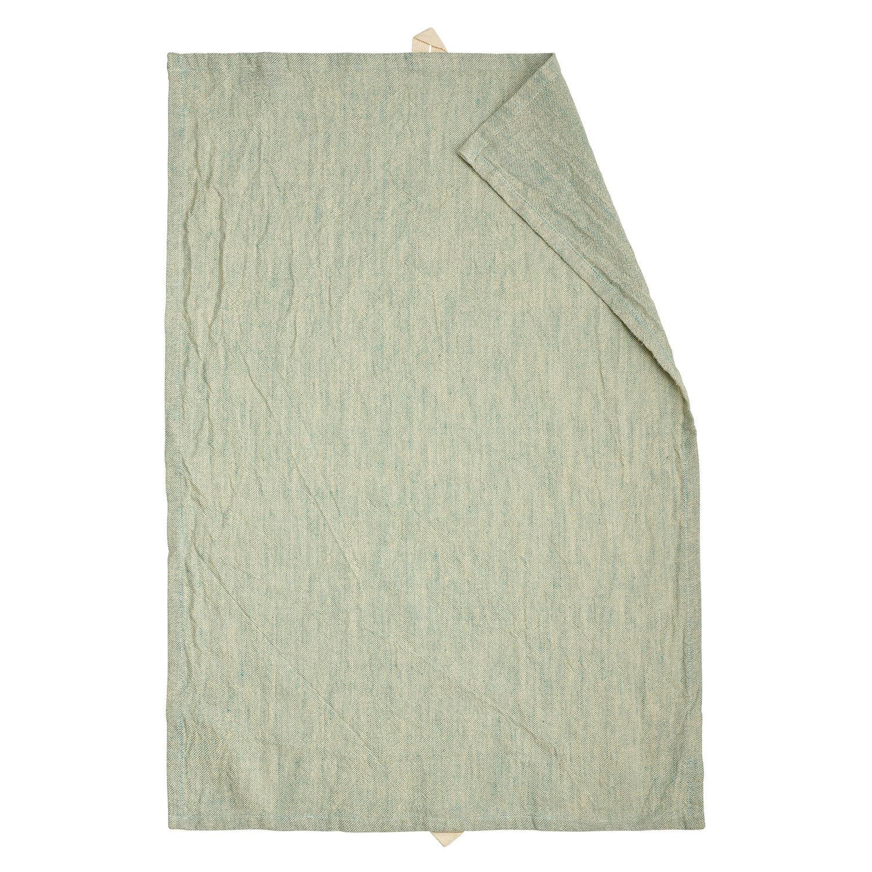 Linum Hedvig Keittiöpyyhe 50x70cm, Bright Grey Turquoise