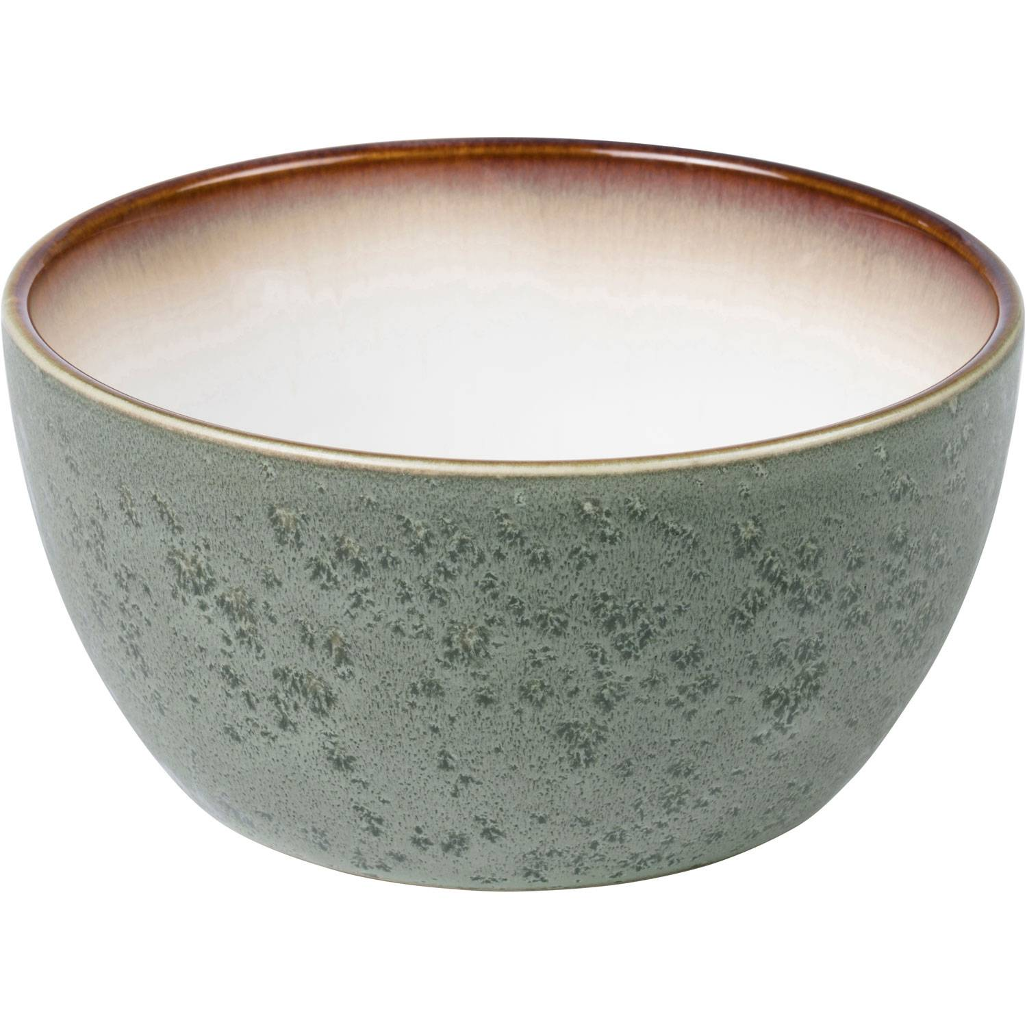 Bitz Bitz Bowl 14 cm, Green/Off-White