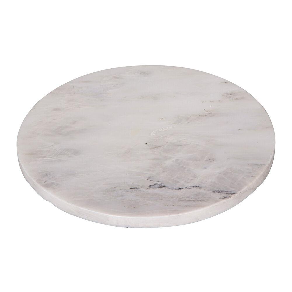 Broste Copenhagen Marble Vati 19cm, Pyöreä, Valkoinen