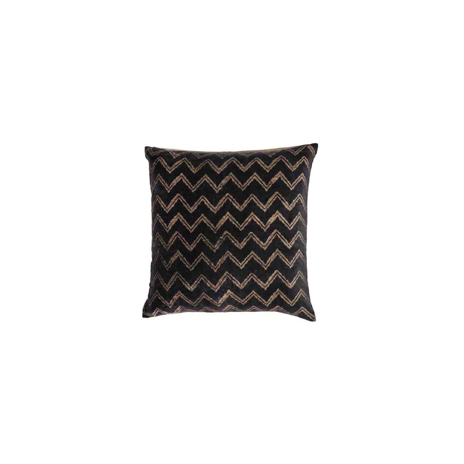 Day Home Day Zigzag Cushion Cover 50x50 cm, Unblack