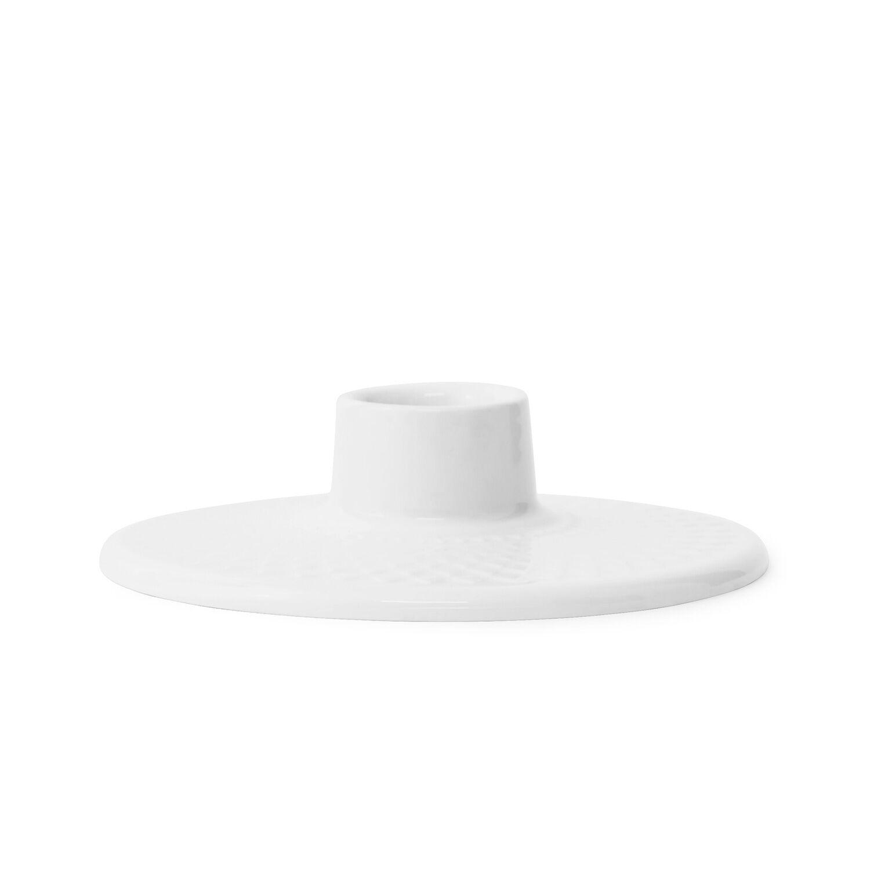 Lyngby Porcelæn Rhombe Kynttilänjalka, Valkoinen