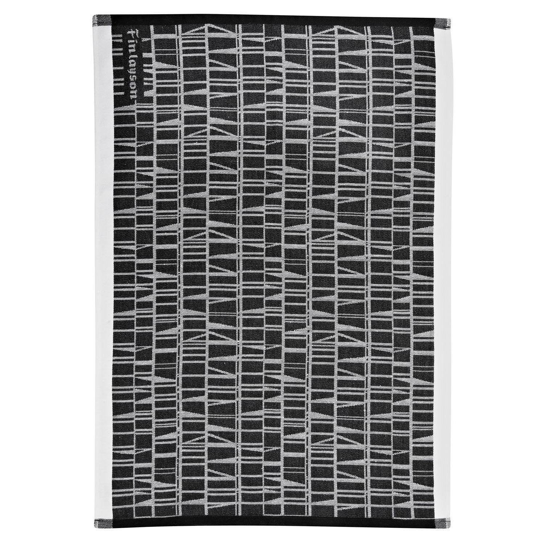 Finlayson Coronna Keittiöpyyhe 50x70cm, Musta/Valkoinen