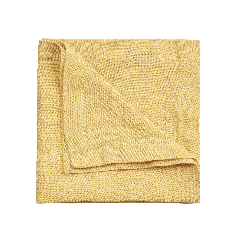 Linum Hedvig Servetti 45x45cm, Mustard Yellow