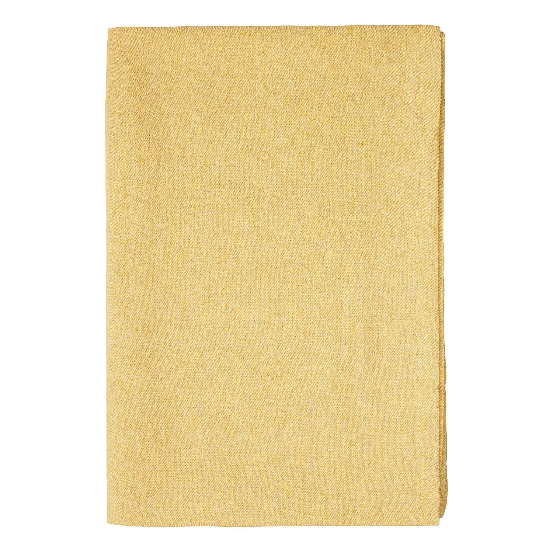 Linum Hedvig Pöytäliina 170x170cm, Mustard Yellow