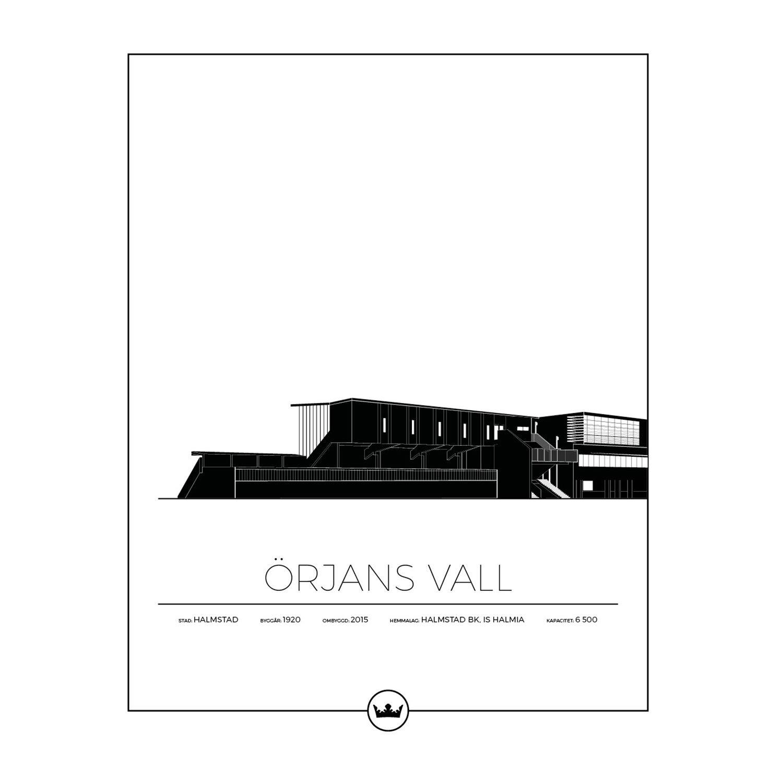 Sverigemotiv Örjans Vall Halmstad 40x50cm