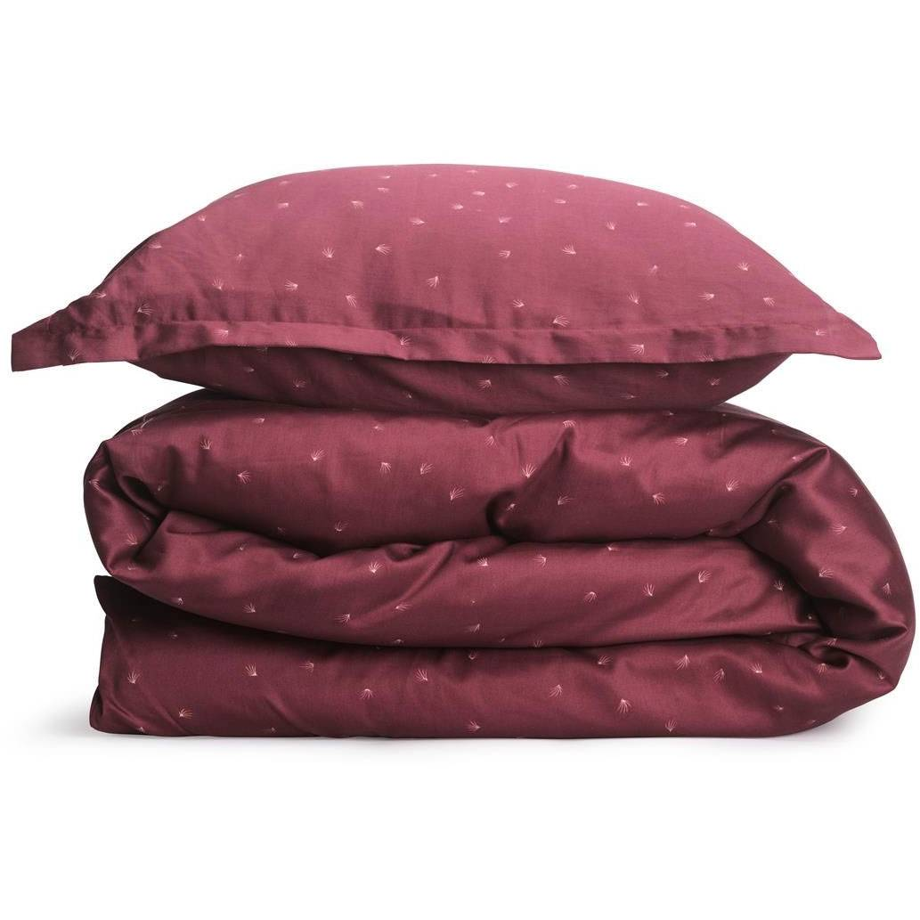 Gripsholm Lisen Bed Set 240x220 cm, Burgundy