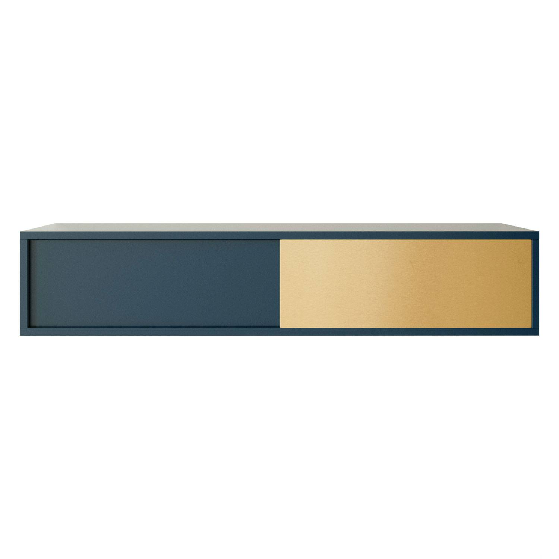 Decotique Vogue Seinäkaappi 120cm, Tum.sininen/Messinki