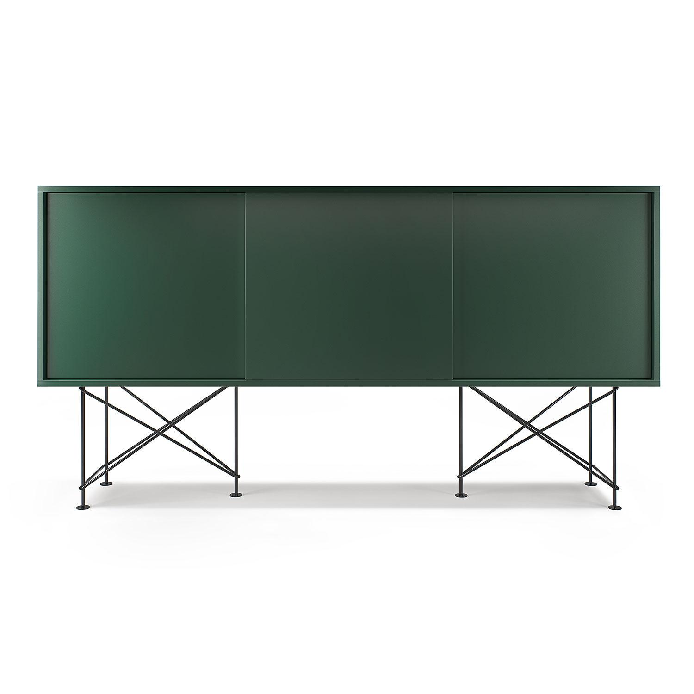 Decotique Vogue Sideboard 180H, Vihreä/3G/Musta