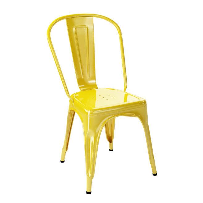 Tolix Tuoli A Ruostumaton Teräs/Keltainen/Kiiltävä