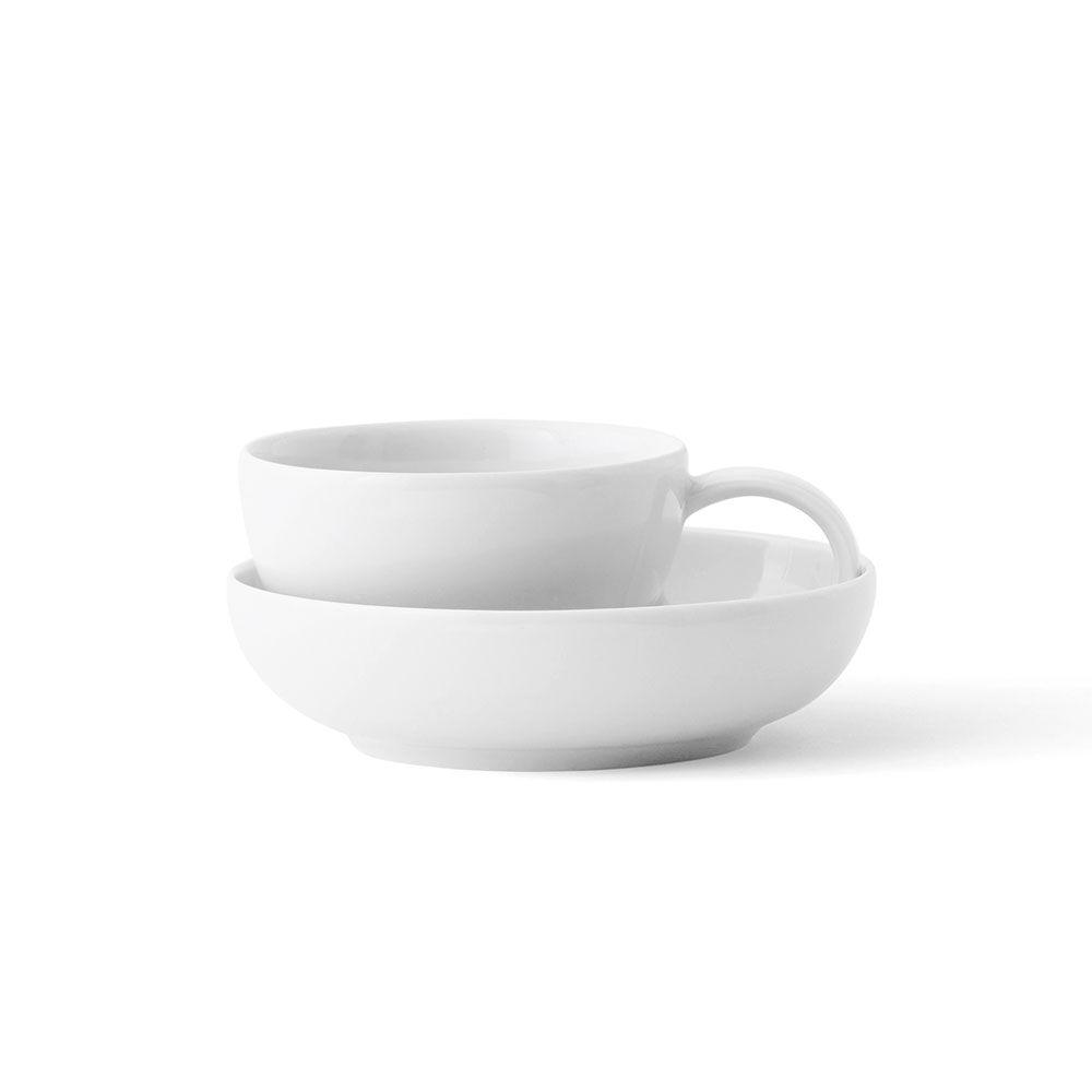 Lyngby Porcelæn Aldo Bakker Espresso cup w. saucer, White