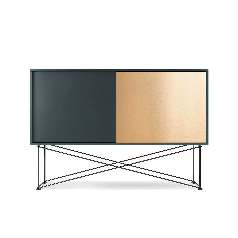 Decotique Vogue Sideboard 136H, Harmaa/1G1B/Musta
