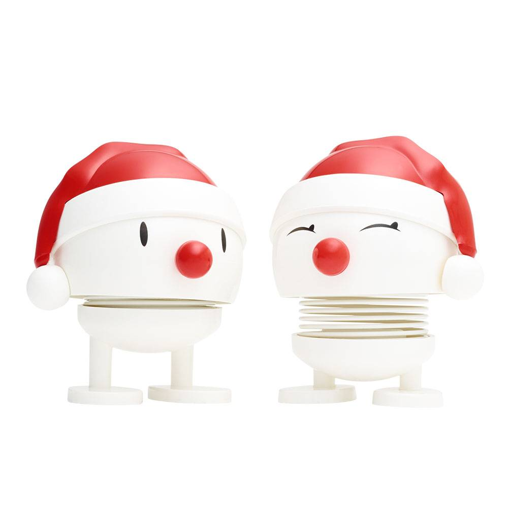 Hoptimist Hoptimist Baby Nosy Santa 2 Pcs, White
