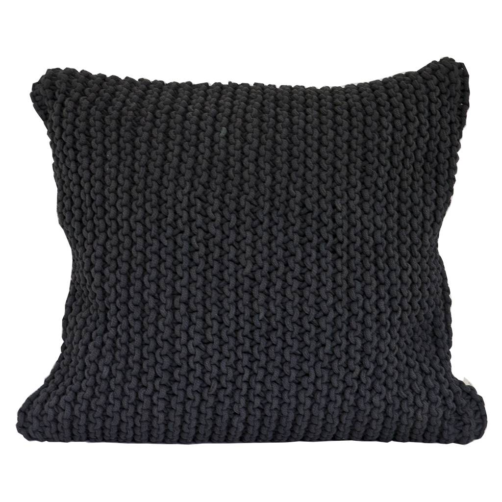 Tell Me More Rope Cushion Cover 50x50 cm, Dark Grey