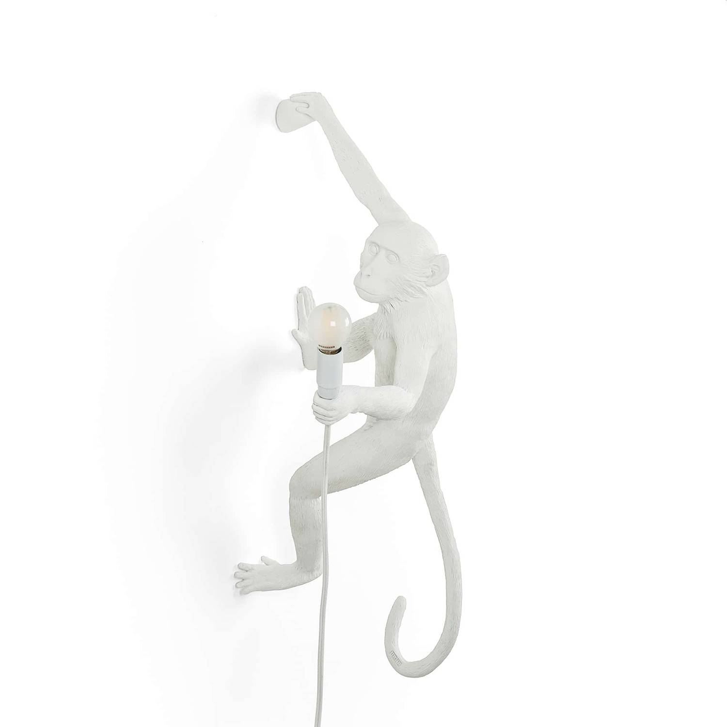 Seletti Monkey Lamp Hanging Version Right, White