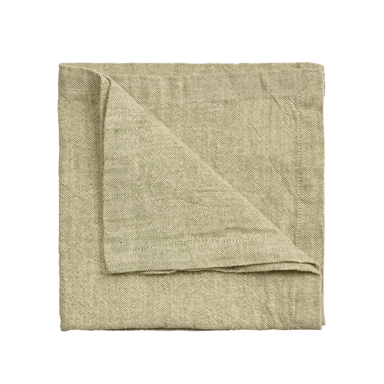 Linum Hedvig Servetti 45x45cm, Light Cypress Green