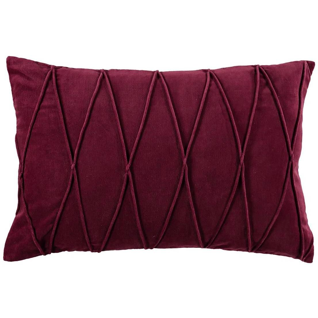 Gripsholm Ina Cushion Cover 40x60 cm, Burgundy