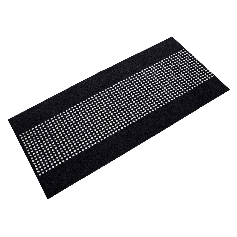 Mette Ditmer Dots Ovimatto 70x150cm, Musta/Valkoinen
