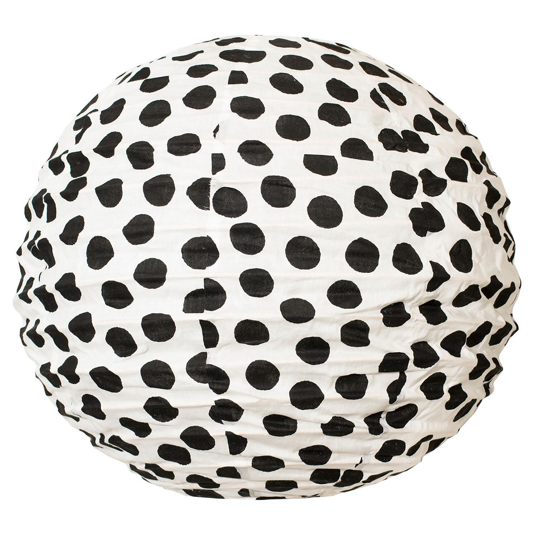 Afroart Big Dot Valaisinvarjostin 50 cm, Musta/Valkoinen