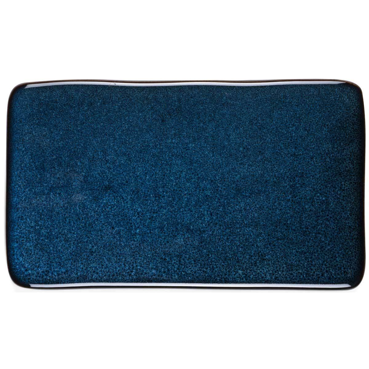 Bitz Bitz Serving Plate 22x12 cm, Dark Blue