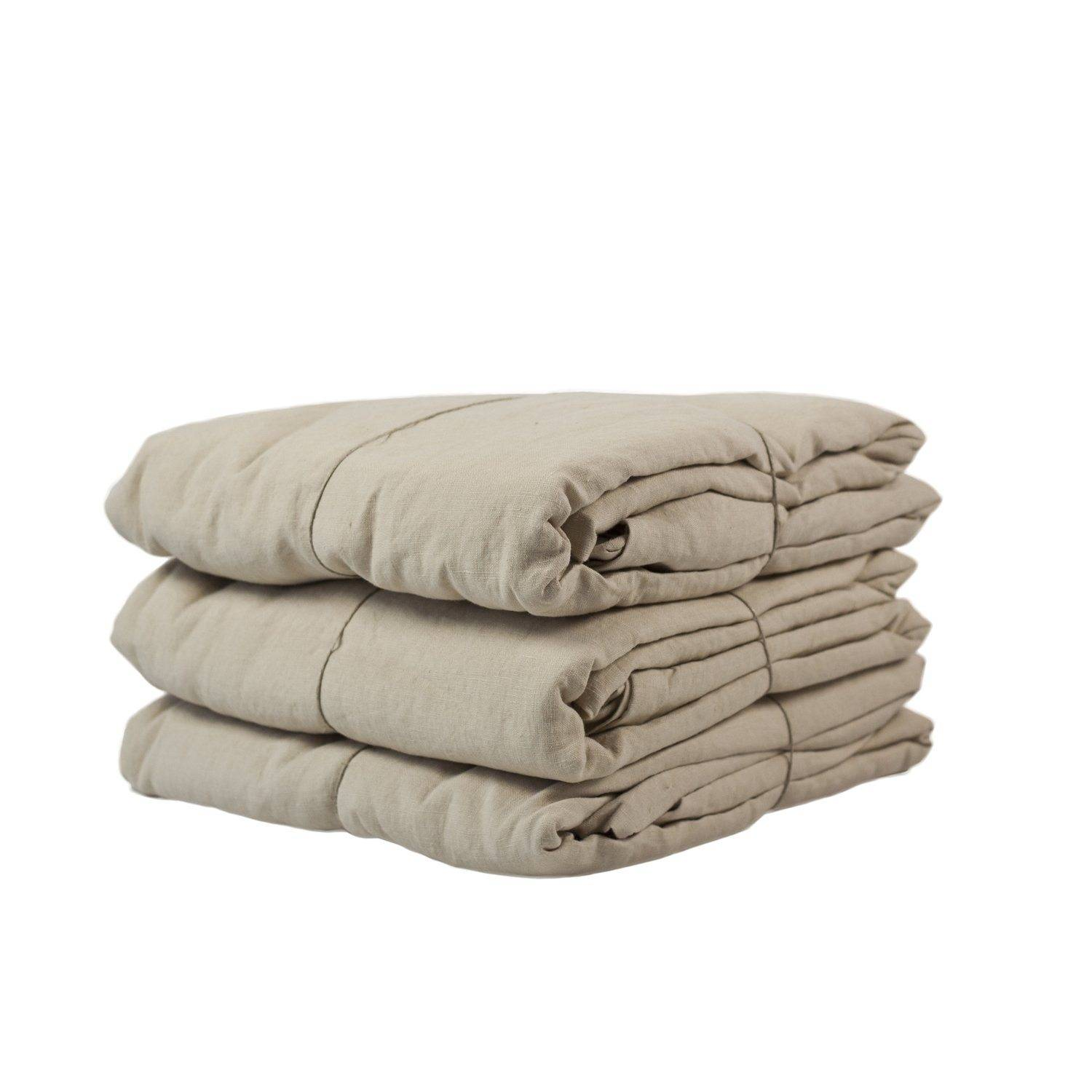 Tell Me More Washed Linen Duvet Cover 240x220 cm, Sand