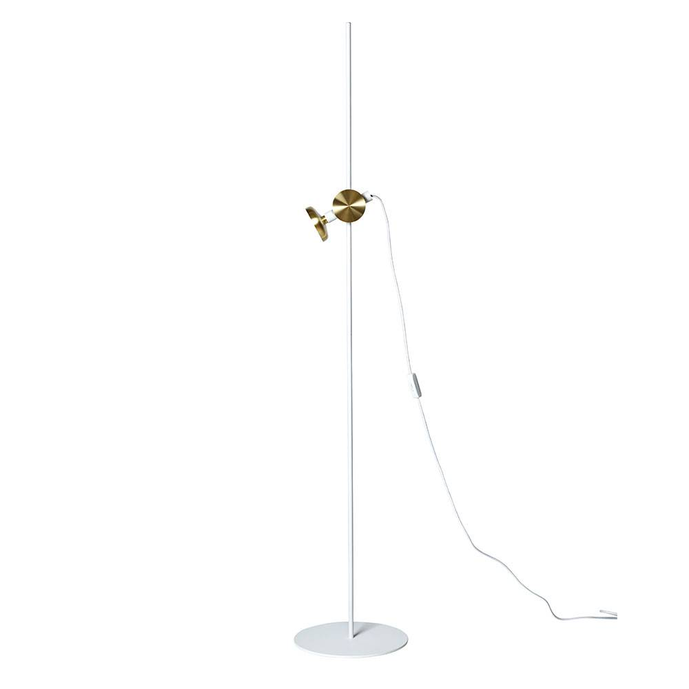 Pholc Blend-jalkalamppu, Valkoinen/Messinki