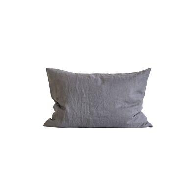 Tell Me More Linen Pillowcase 50x70 cm 2-pack, Dark Grey