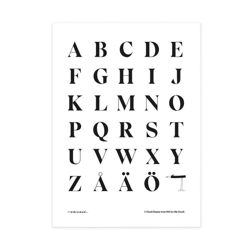 Olle Eksell Eksell Alphabet #1 Juliste 50x70cm