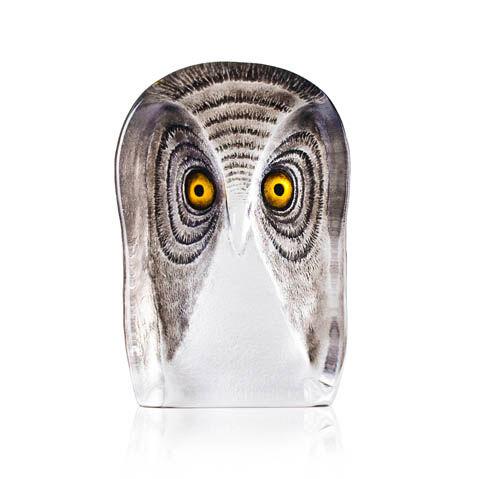 Målerås Glasbruk Wildlife, Pöllö, Large, Maalattu