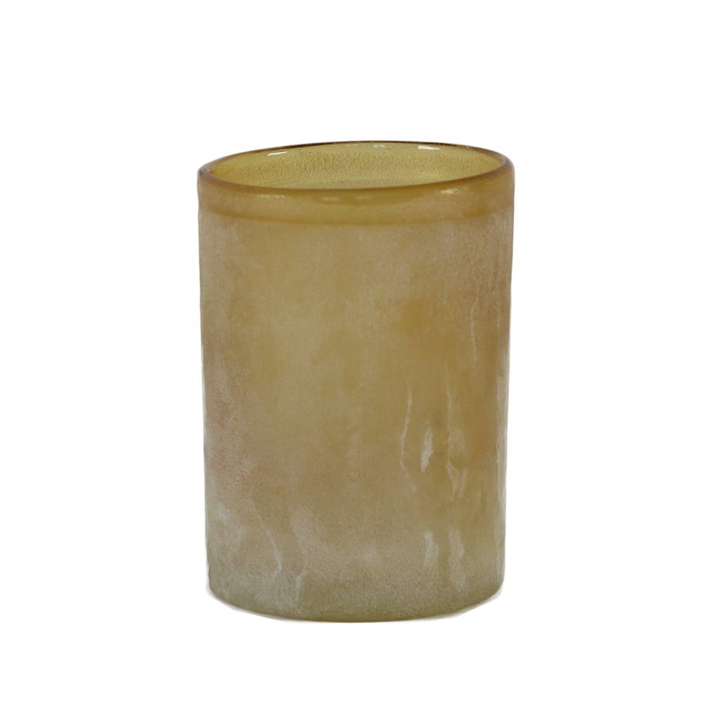 Tell Me More Frost Candleholder L, Amber