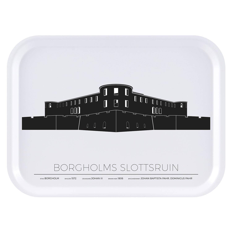 Sverigemotiv Borgholm Slottsruin Tarjotin 27x20cm