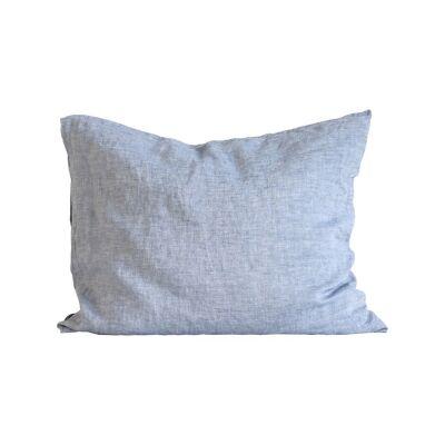 Tell Me More Linen Pillowcase 50x60 cm 2 pack, Woven Light Blue