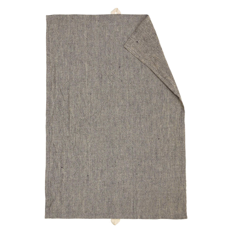 Linum Hedvig Keittiöpyyhe 50x70cm, Musta