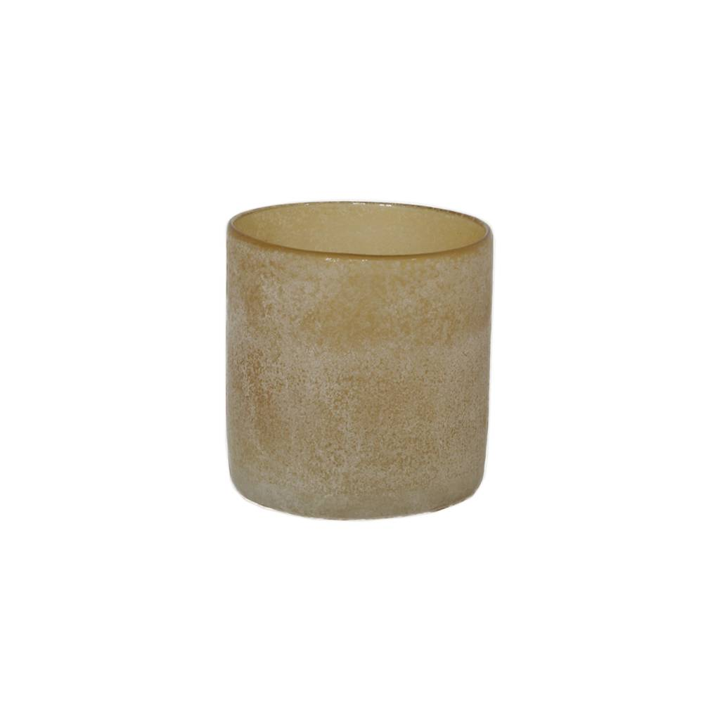 Tell Me More Frost Candleholder S, Amber