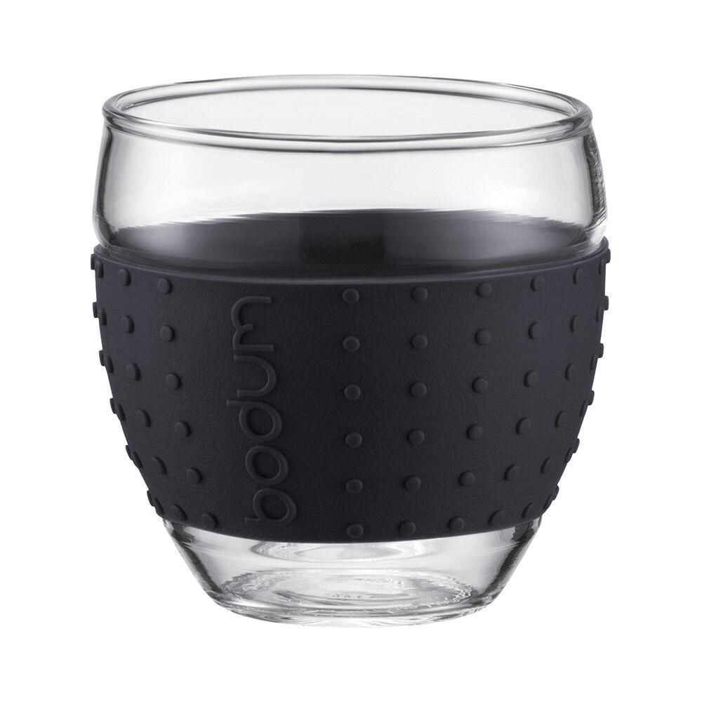 Bodum PAVINA Lasi silikonilla, 2-pakkaus, 35 cl, Musta