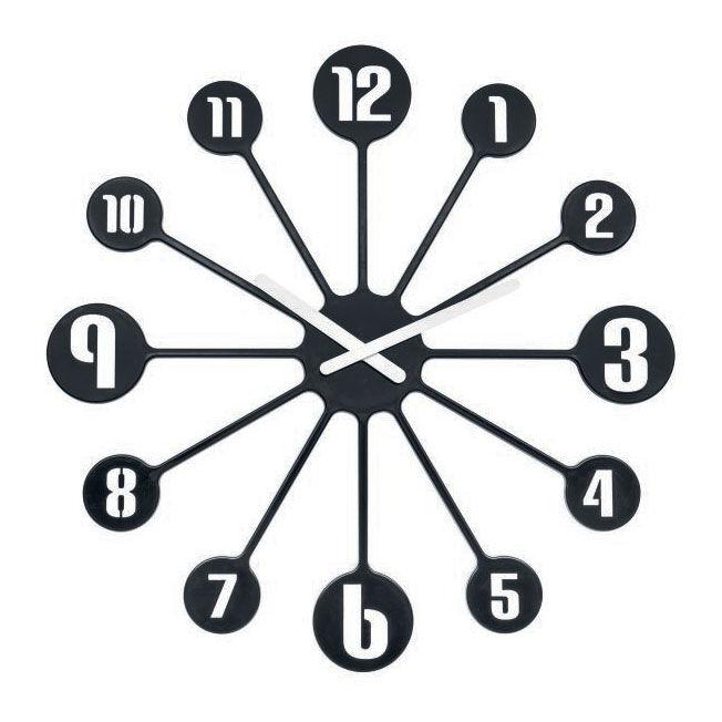 Koziol Pinball Seinäkello 45 cm, Musta