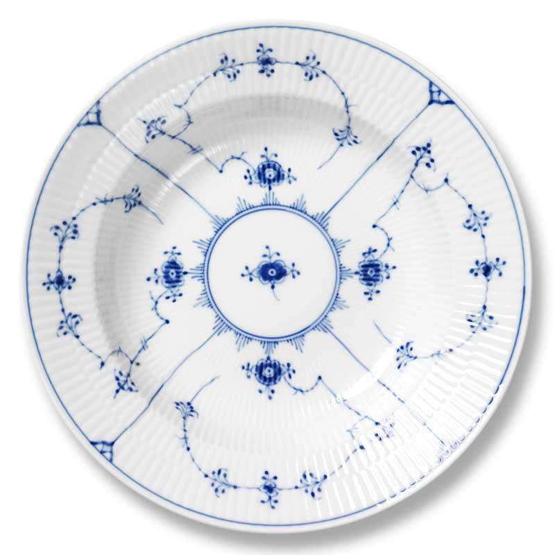 Royal Copenhagen Blue Fluted Plain Plate Deep