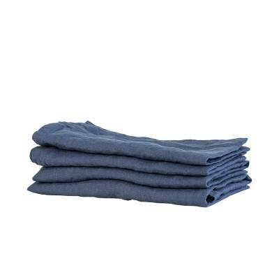 Tell Me More Linen Napkin, Navy Blue
