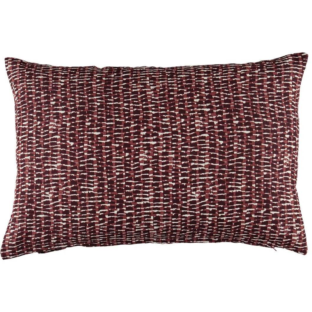 Gripsholm Mika Cushion Cover 50x50 cm, Burgundy