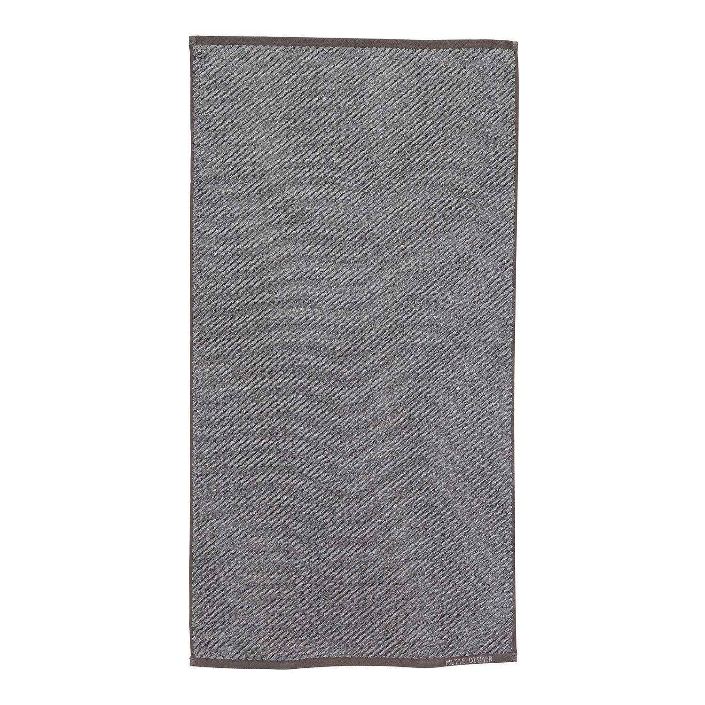 Mette Ditmer Diagonal Pyyheliina 50x95cm, Harmaa