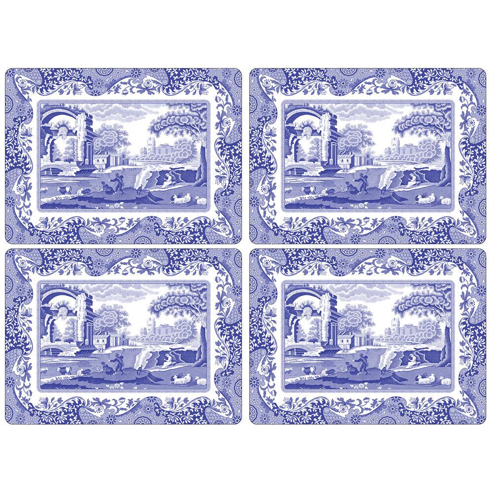 Spode Blue Italian Pöytätabletti 4 kpl, 401 mm x 290 mm