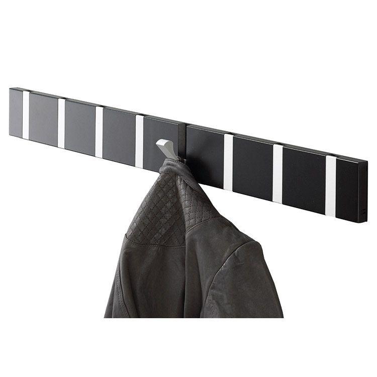 LoCa Knax 8 vaatekoukut, musta