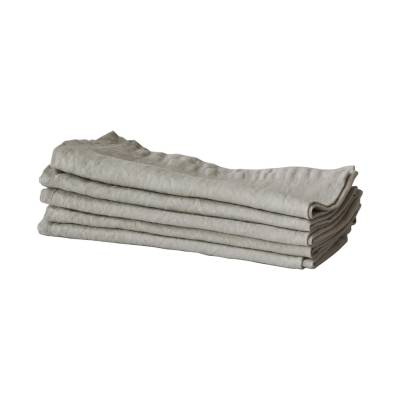 Tell Me More Linen Placemat 35x50 cm, Warm Gray