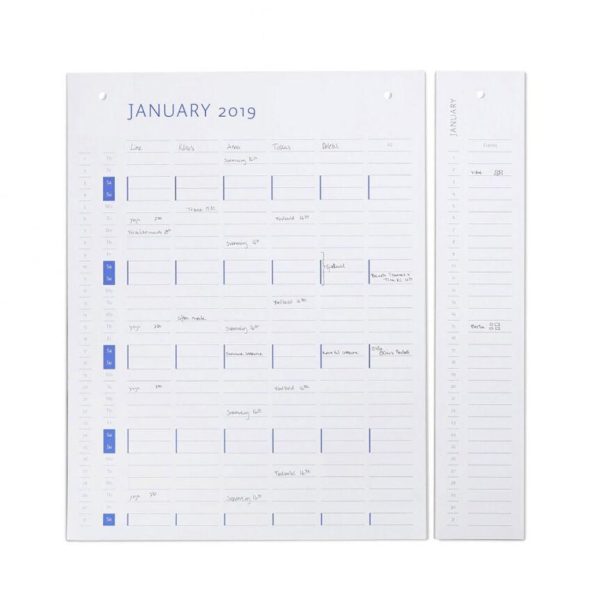 by Wirth Planner Board Calendar Refill 2019/2020