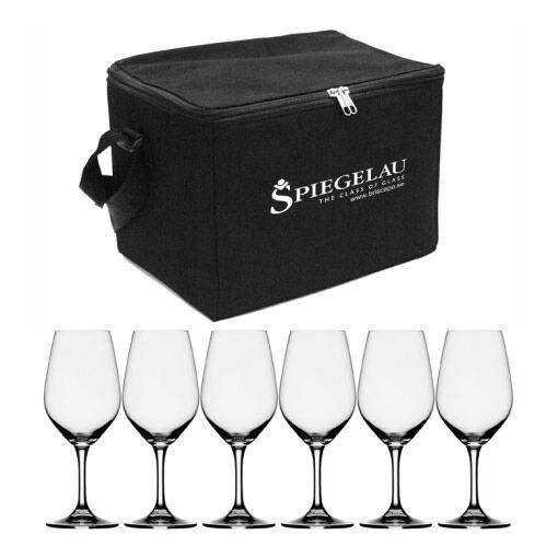 Spiegelau Expert Viinilasi-laukku sis 6 viinilasia, musta