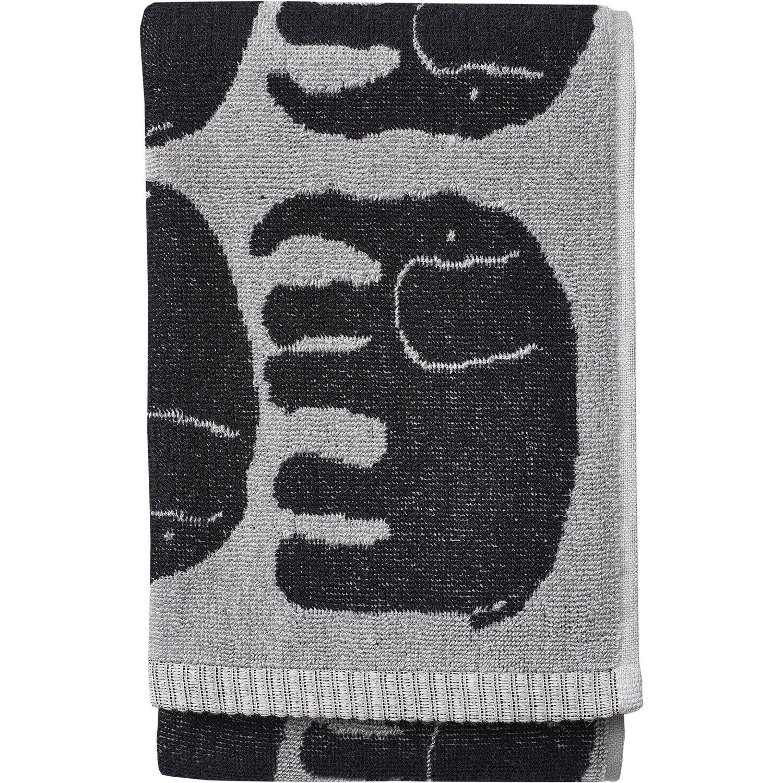 Finlayson Elefantti Towel 50x70 cm, Black/Grey