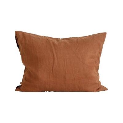 Tell Me More Linen Pillowcase 50x60 cm 2 pack, Amber