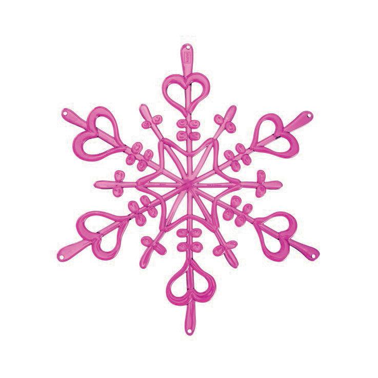 Koziol Flakes XS Ornament, Vaaleanpunainen, 4-pakkaus